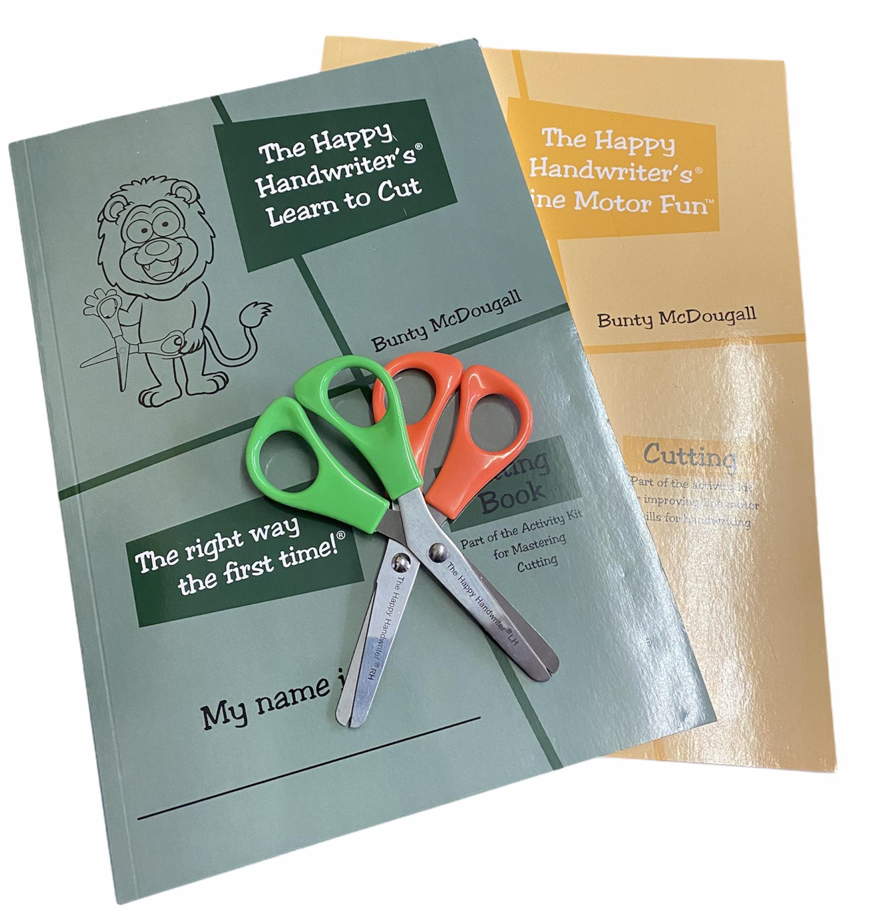 Cutting books and scissors