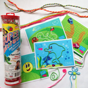Wikki Stix and activity cards to help strengthen fine motor skills